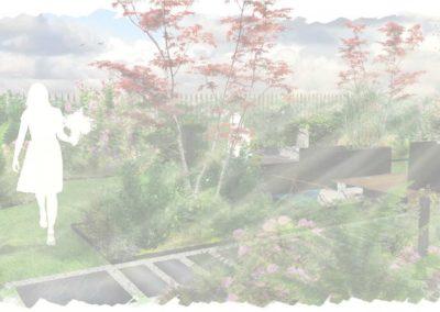 Jardin de maison Sonchamp