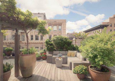 Jardin suspendu avec vue du dernier étage